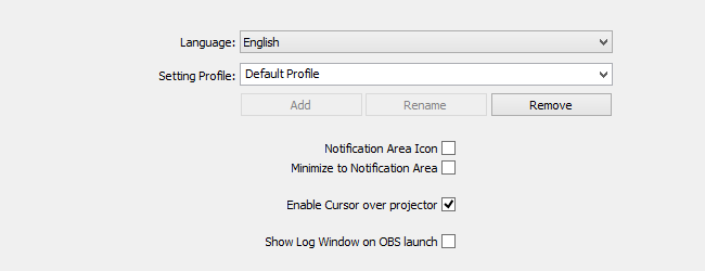 General Settings - OBS Classic - Help Files