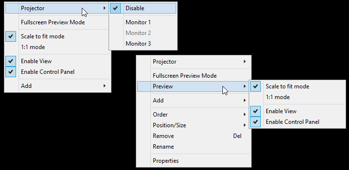 Preview Area - OBS Classic - Help Files