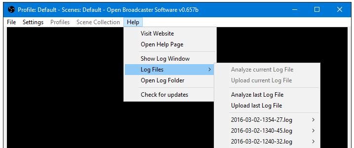 Main Window - OBS Classic - Help Files